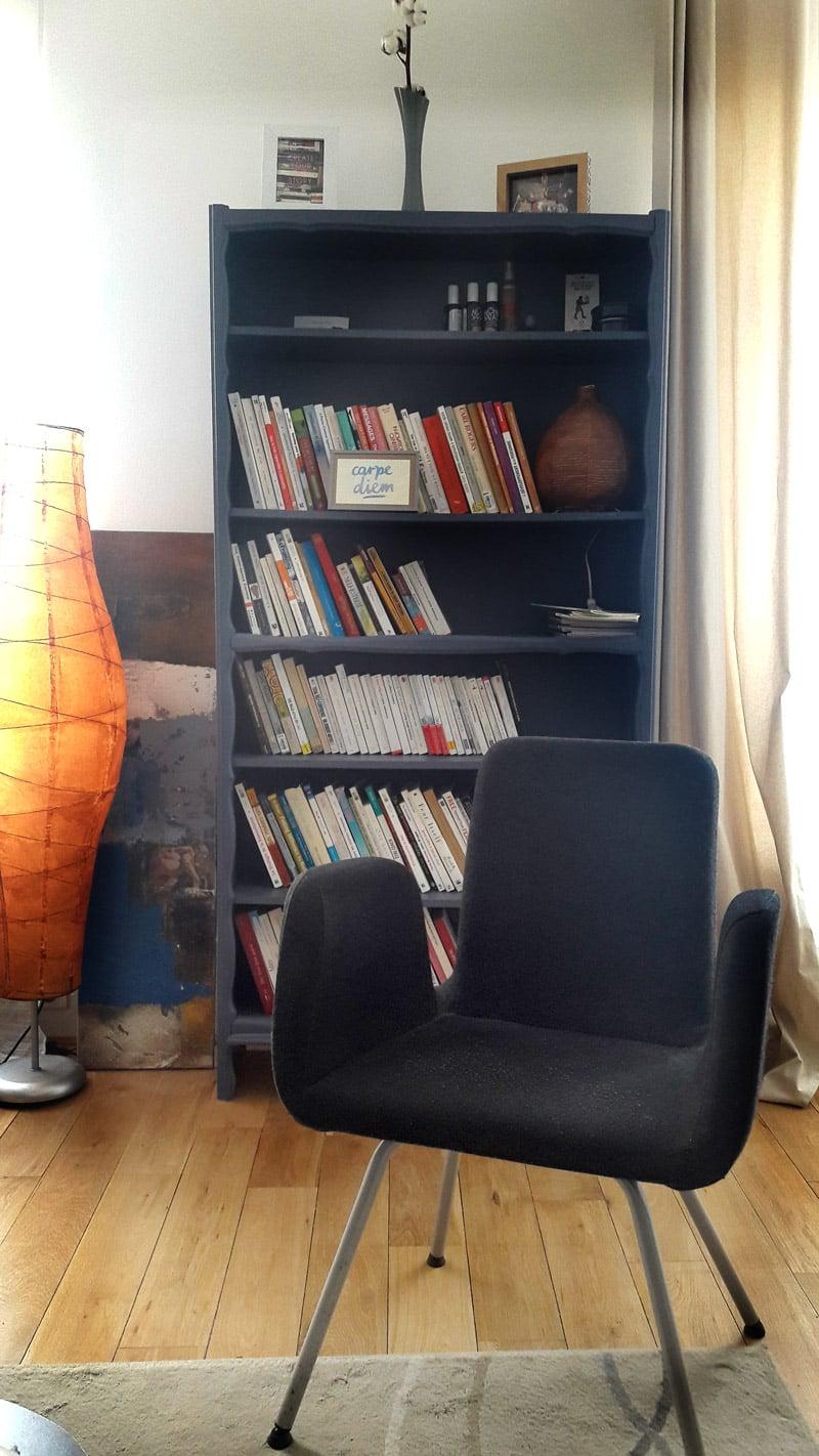 Bureau de Stéphane Dolly à Paris 14 - La bibliothèque